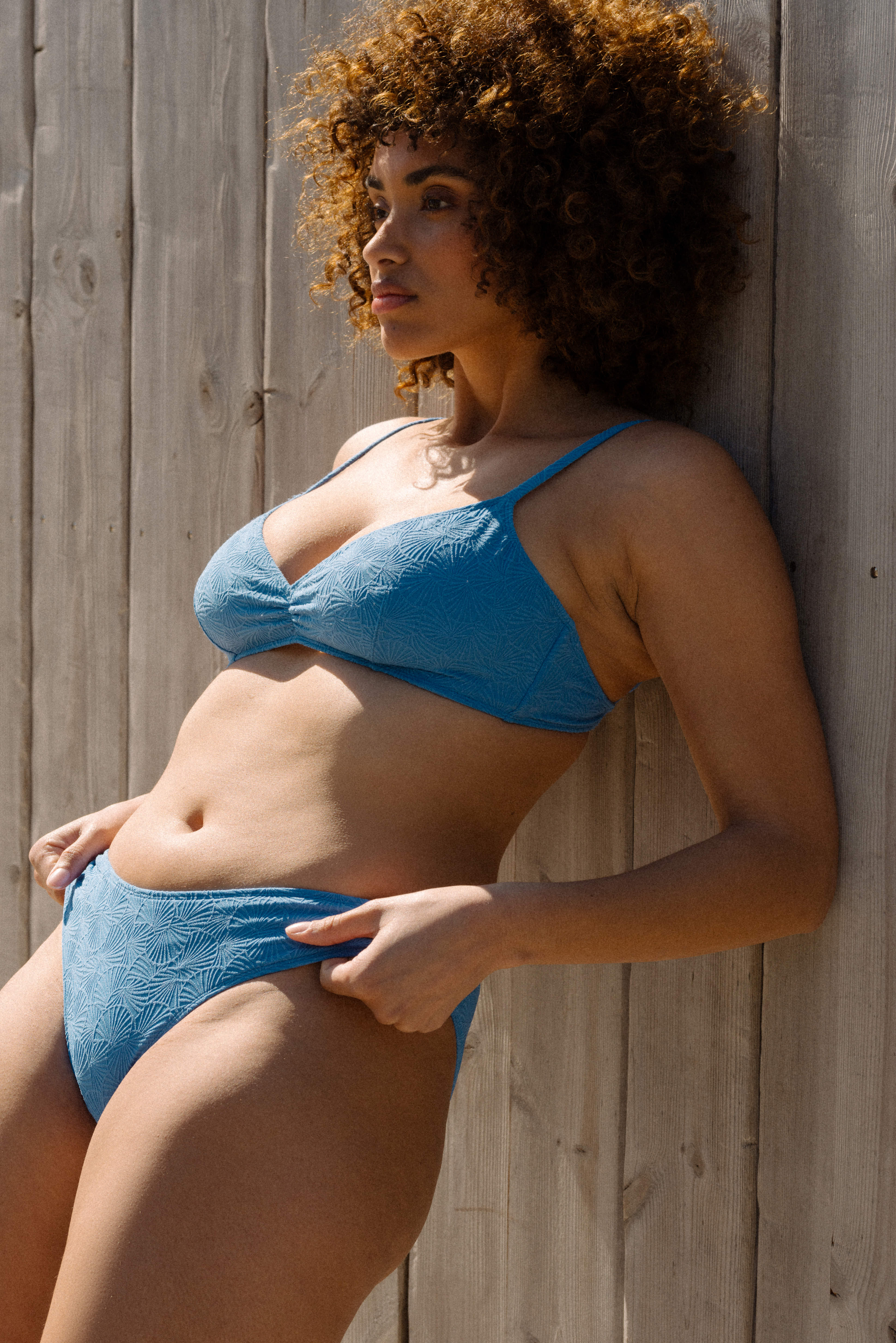 Swimsuit triangle Baiser coquillage blue