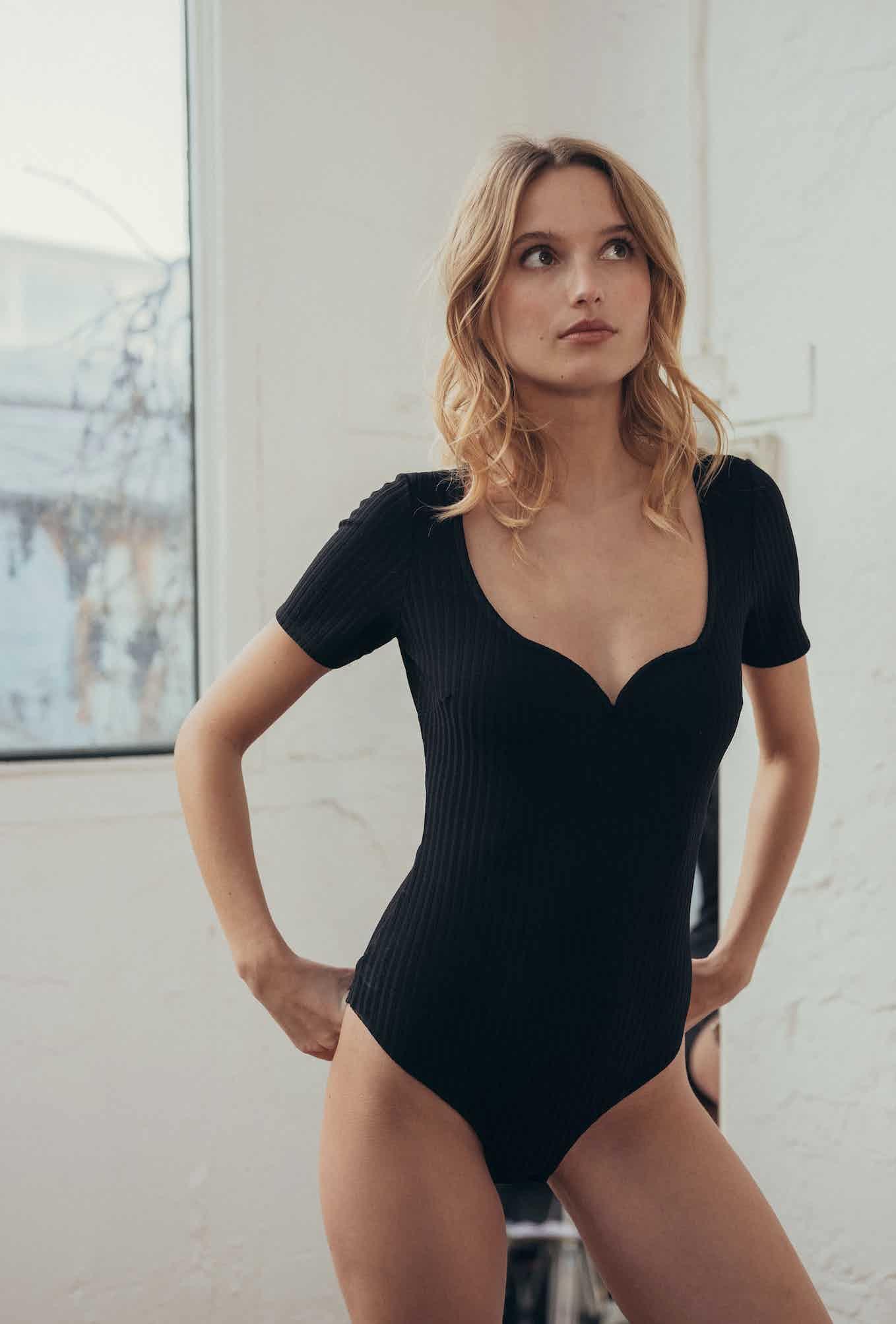 Gaspard Bodysuit in black