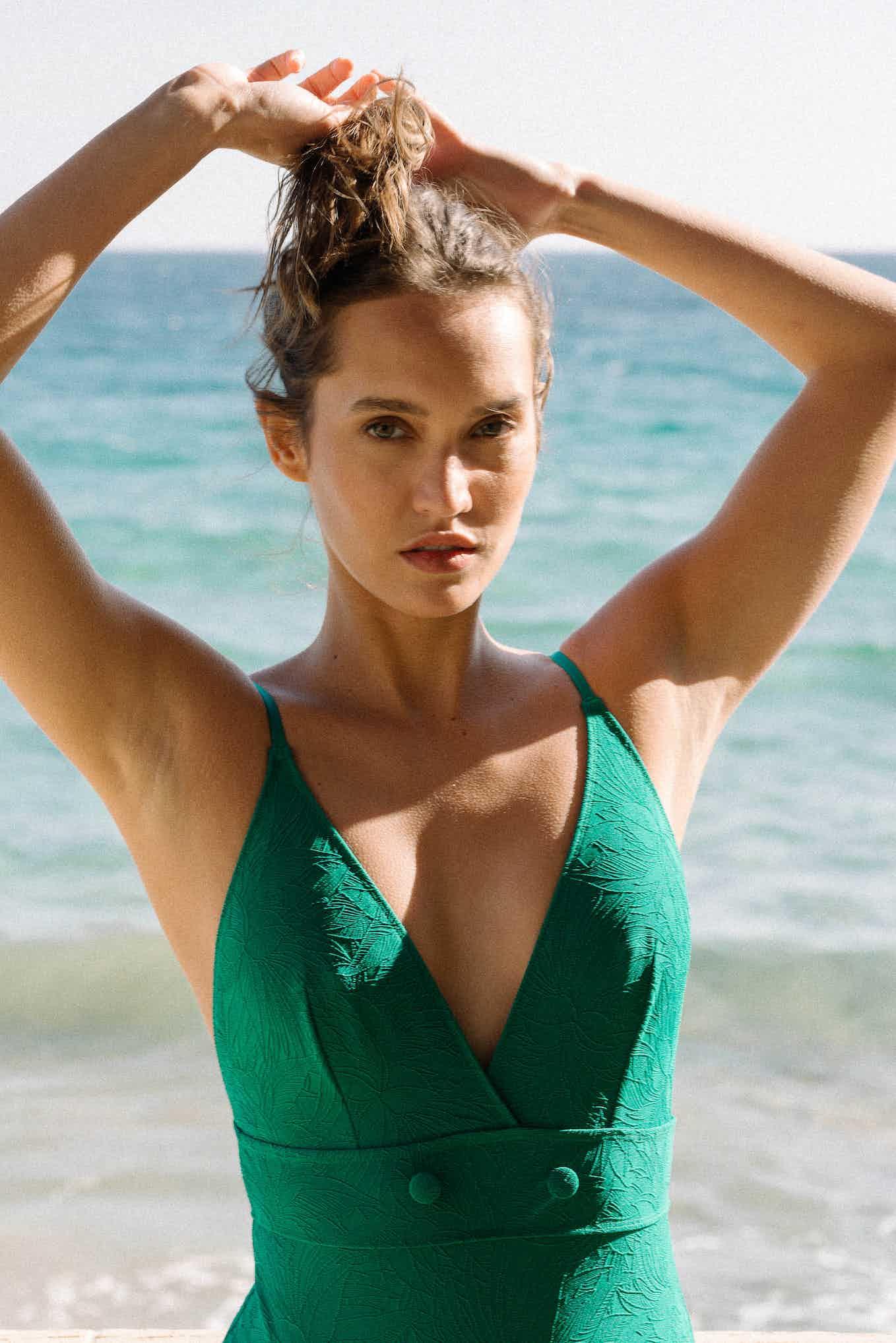 Rêve ensoleillé swimsuit in emerald green
