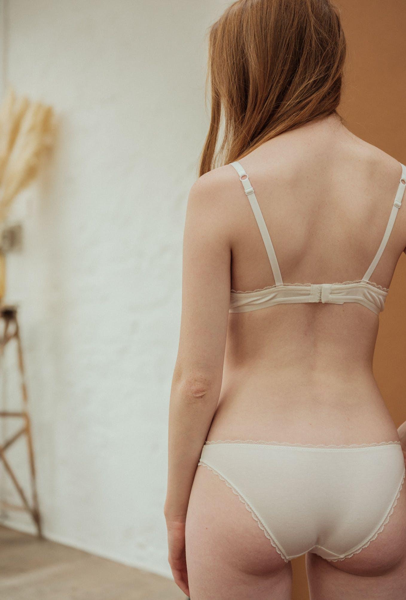 Première fois lingerie set in ivory with briefs