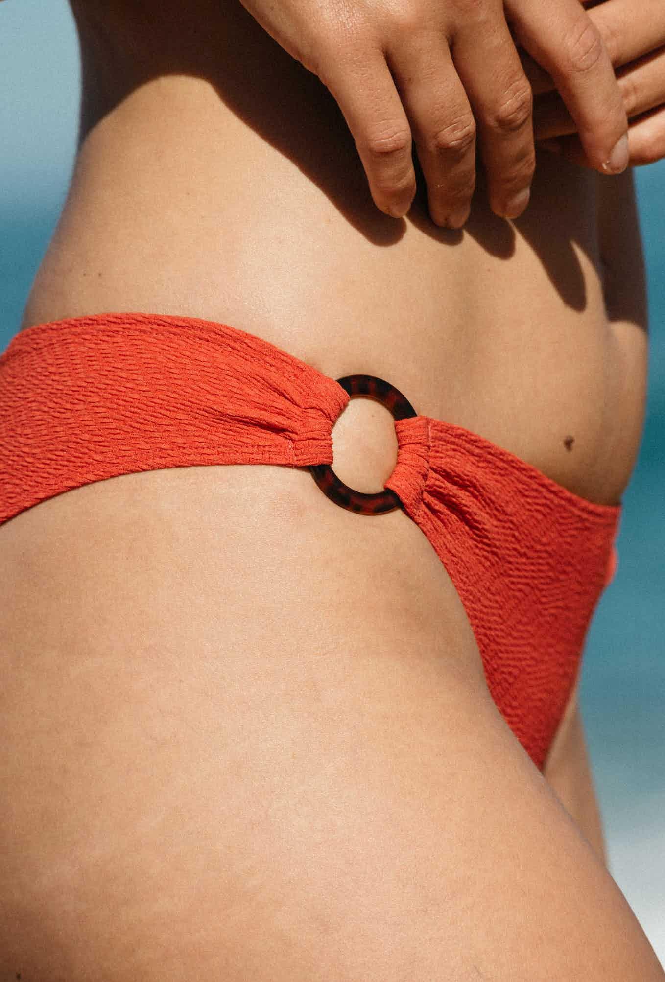Bikini bottom Horizon doux in coral red