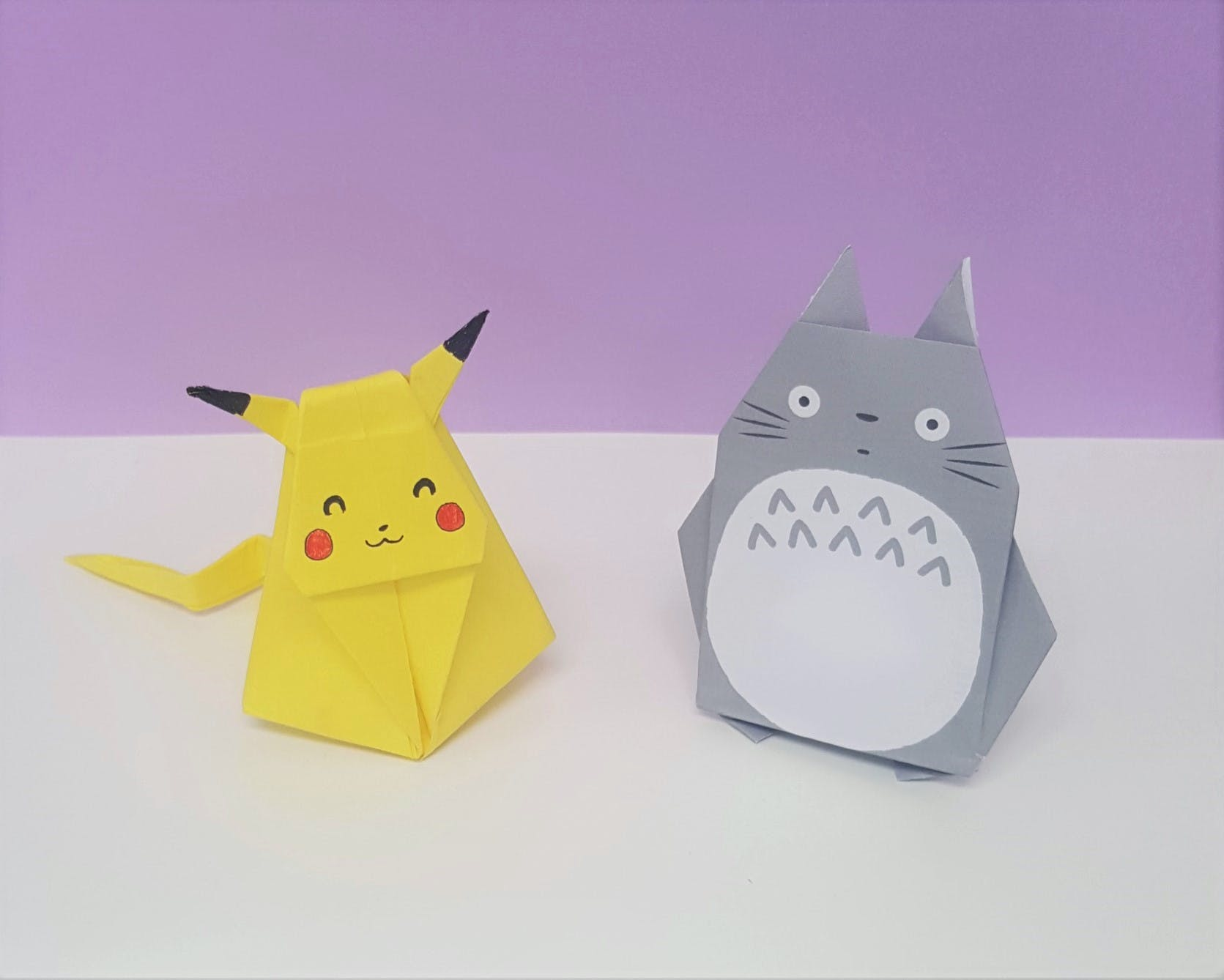 How to DIY Origami Totoro? | The Idea King Tutorial #82 - YouTube | 1338x1671