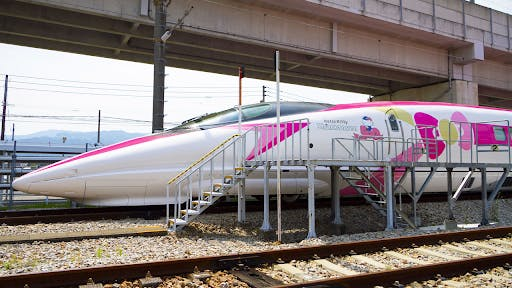 Sanrio characters are so popular they often decorate Japanese trains and shinkansen.