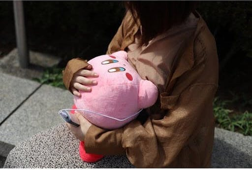 Kirby plushies are a common prize in Japanese crane games!
