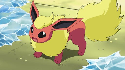 With a strong spirit, flareon has a lot of heart, and is one of the cutest fire type pokemon!