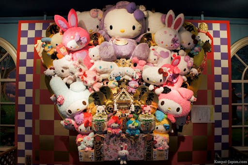 Sanrio is the company behind many of Japan's most famous cute characters like Hello Kitty and My Melody.