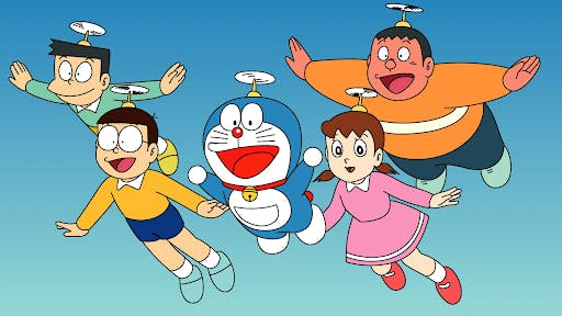 Doraemon and his group of friends