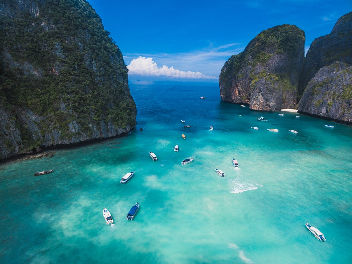 Koh Phi Phi Archipelago and Maya Bay with its special rocks and turquoise waterPhoto by Humphrey Muleba on Unsplash