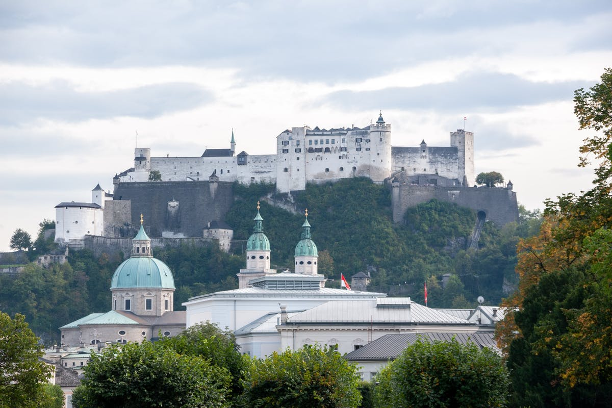 View of a fortress above Salzburg