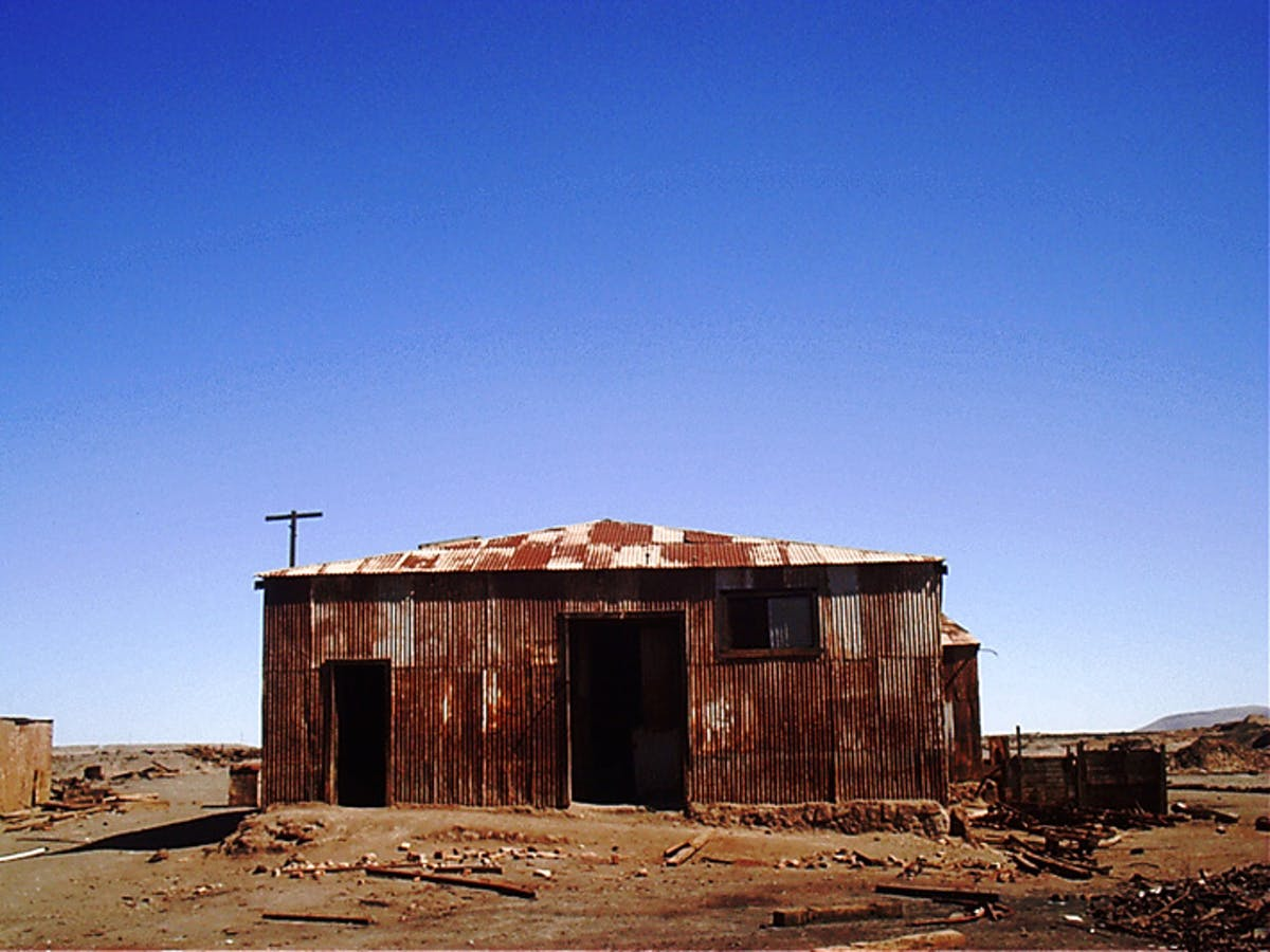 Maison abandonnée dans le village fantôme d'Humberstone au Chili