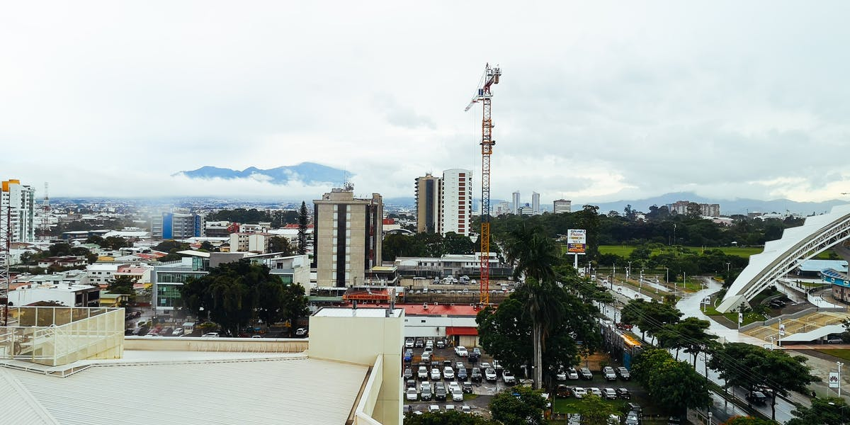 Aerial view of San José