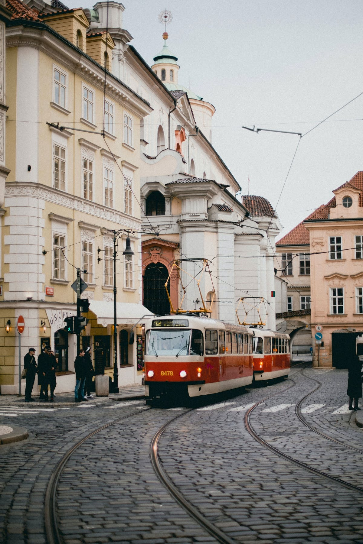 A tramway in the historic city centre