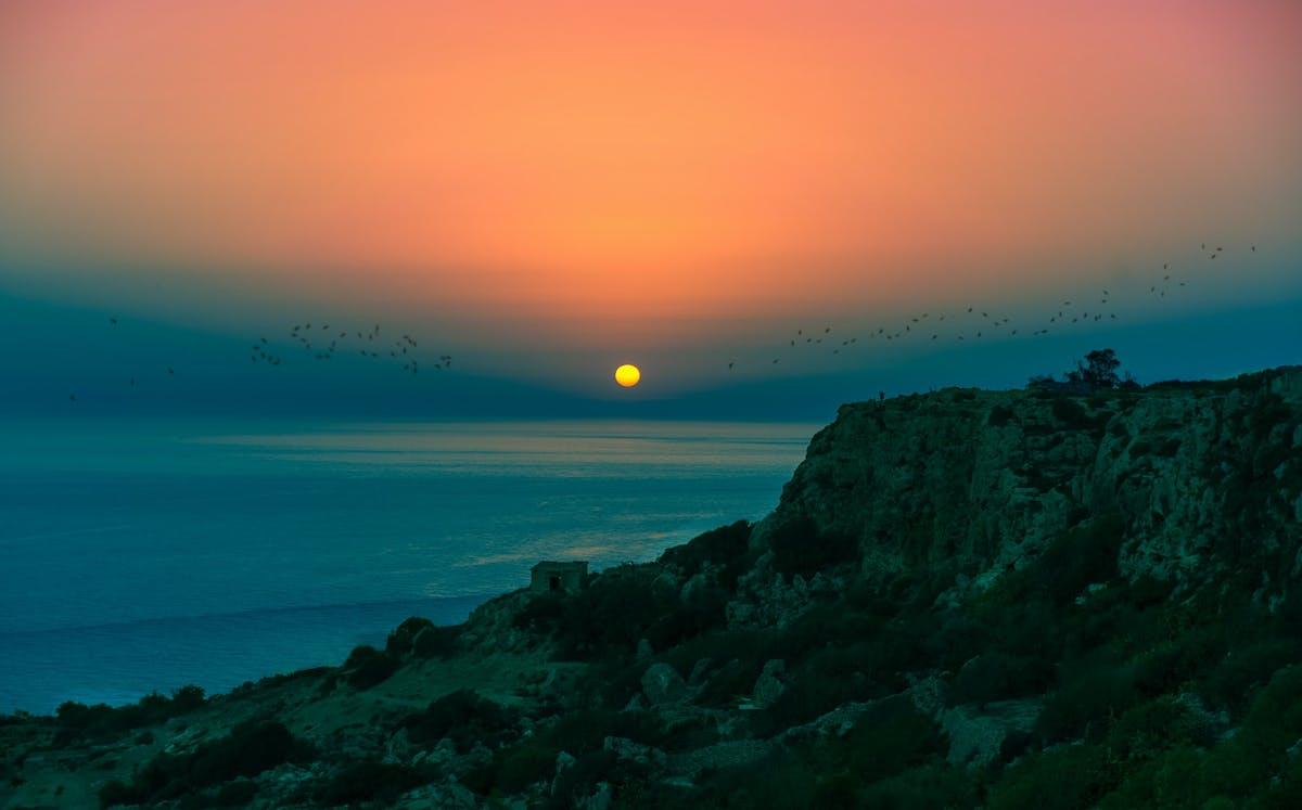 Dingli cliffs and sunset