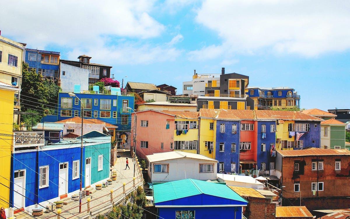 Maison colorées de Valparaiso