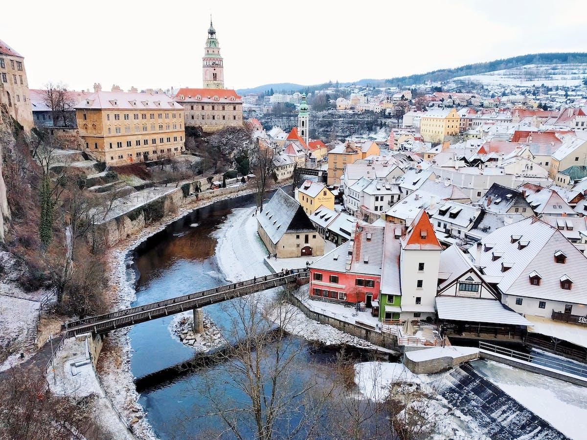 View of a Czech village