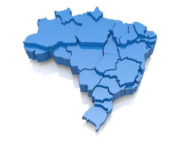 Mapa do Brasil, onde tem a cobertura Vivo Móvel