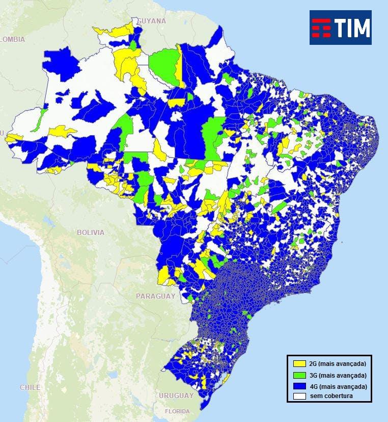 mapa cobertura TIM Controle