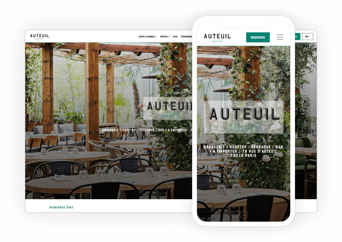 Exemple site web restaurant