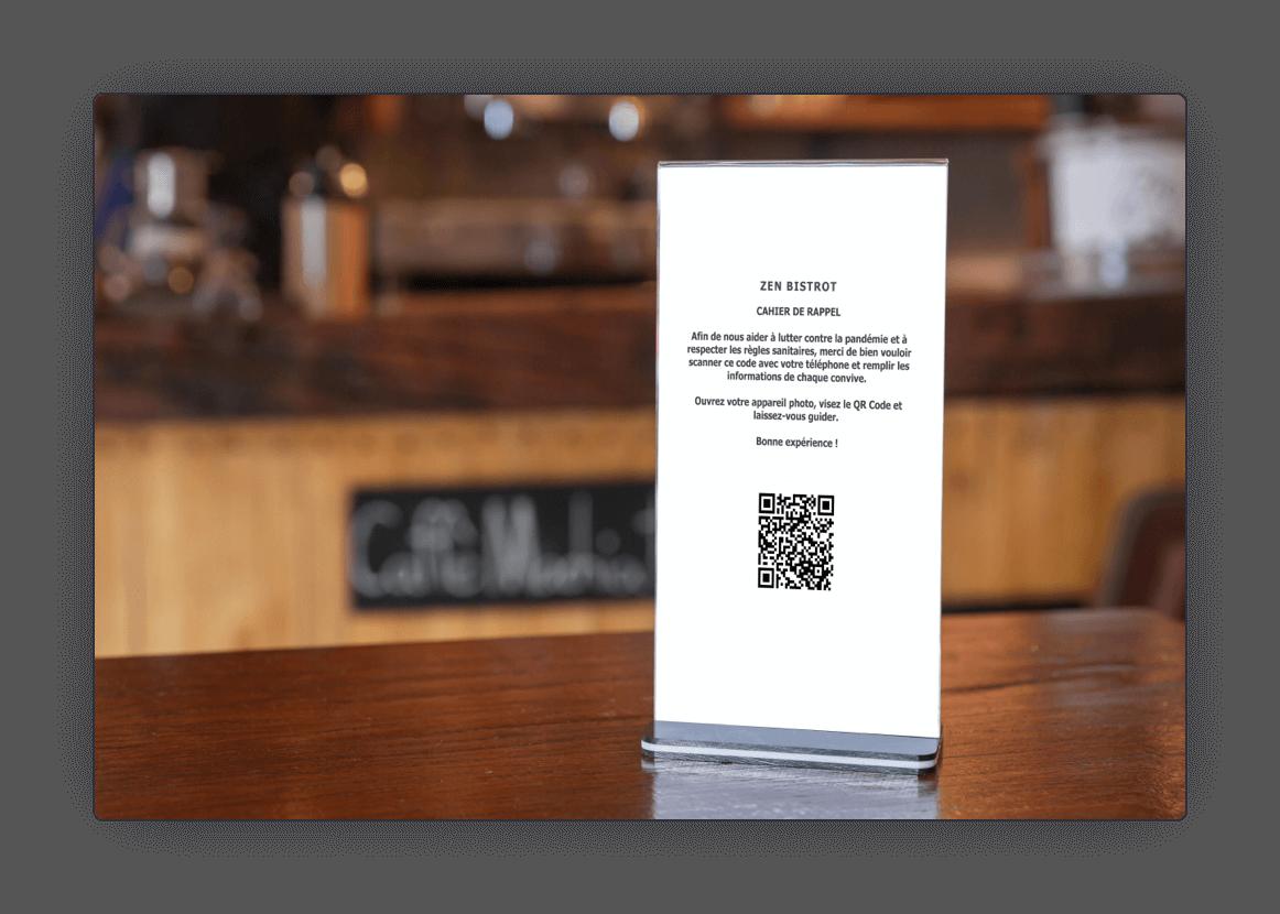 Restaurant QR Code du cahier de rappel
