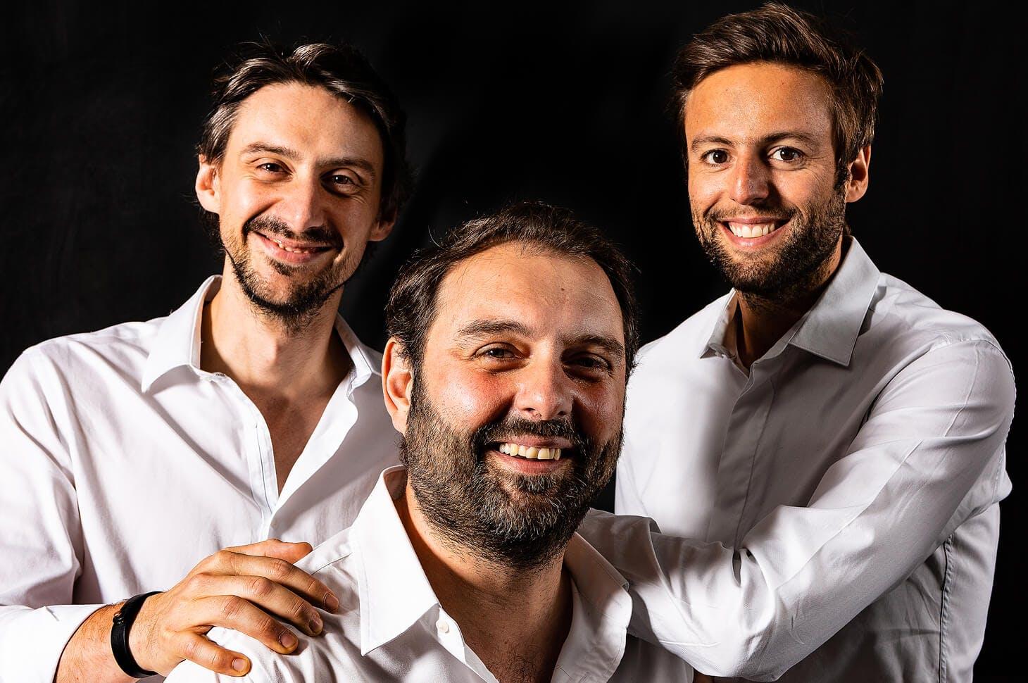 Photo de Julien Balmont, Thomas Zeitoun et Xavier Zeitoun