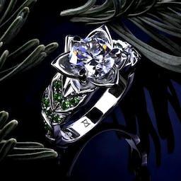 Kwiatowy pierścionek.