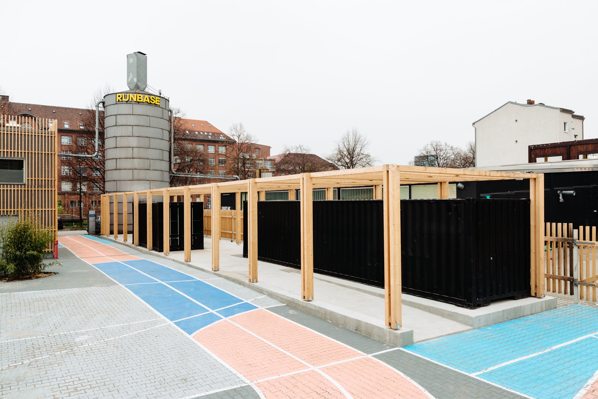 pop-up shop made of shipping containers