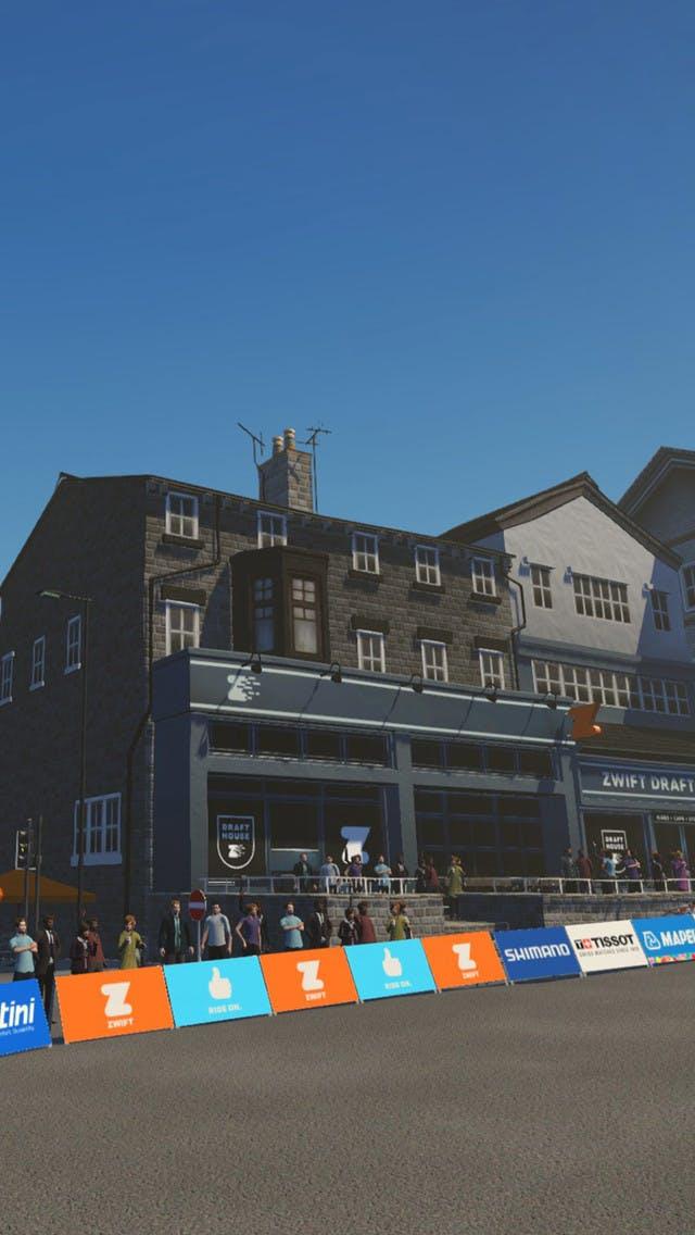Zwift Yorkshire virtual cycling & running map
