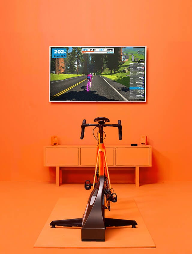 Test ride Zwift cycling