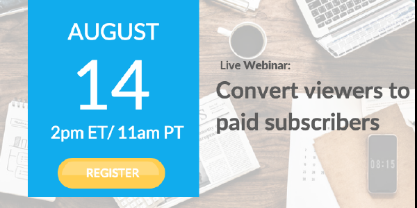 Mark your Calendar: Marketing Your Streaming Service Webinar on August 14th