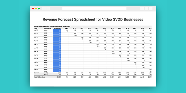 How to Use the Revenue Forecast Model for Subscription Video Businesses